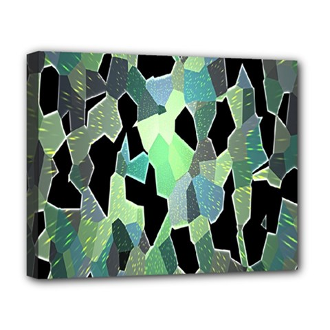 Wallpaper Background With Lighted Pattern Deluxe Canvas 20  X 16   by Nexatart