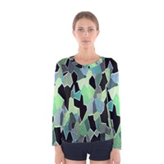 Wallpaper Background With Lighted Pattern Women s Long Sleeve Tee