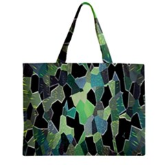 Wallpaper Background With Lighted Pattern Zipper Mini Tote Bag by Nexatart