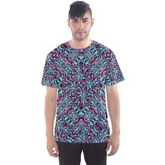 Stylized Texture Luxury Ornate Men s Sport Mesh Tee by dflcprintsclothing