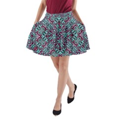Stylized Texture Luxury Ornate A-Line Pocket Skirt by dflcprintsclothing