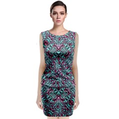 Stylized Texture Luxury Ornate Classic Sleeveless Midi Dress by dflcprintsclothing