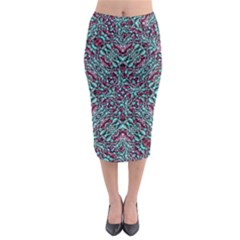 Stylized Texture Luxury Ornate Midi Pencil Skirt by dflcprintsclothing