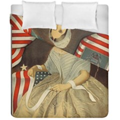 Betsy Ross Author Of The First American Flag And Seal Patriotic Usa Vintage Portrait Duvet Cover Double Side (california King Size) by yoursparklingshop