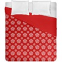 Dark Red White Pentacle Pagan Wiccan Duvet Cover Double Side (California King Size) View1
