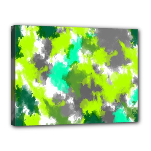 Abstract Watercolor Background Wallpaper Of Watercolor Splashes Green Hues Canvas 16  X 12