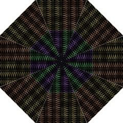 Multicolor Pattern Digital Computer Graphic Folding Umbrellas by Nexatart