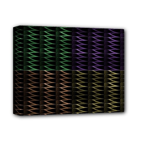 Multicolor Pattern Digital Computer Graphic Deluxe Canvas 14  X 11  by Nexatart