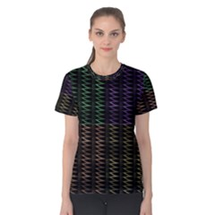 Multicolor Pattern Digital Computer Graphic Women s Cotton Tee