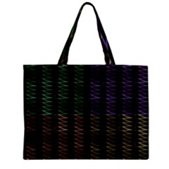 Multicolor Pattern Digital Computer Graphic Zipper Mini Tote Bag by Nexatart