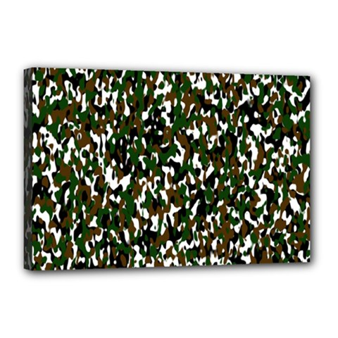 Camouflaged Seamless Pattern Abstract Canvas 18  X 12  by Nexatart
