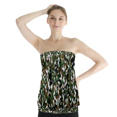 Camouflaged Seamless Pattern Abstract Strapless Top by Nexatart