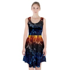 Abstract Background Racerback Midi Dress