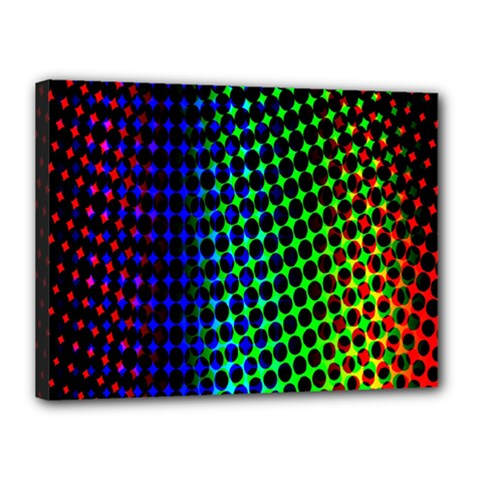 Digitally Created Halftone Dots Abstract Background Design Canvas 16  X 12