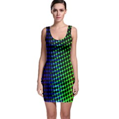 Digitally Created Halftone Dots Abstract Background Design Sleeveless Bodycon Dress