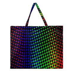 Digitally Created Halftone Dots Abstract Background Design Zipper Large Tote Bag by Nexatart