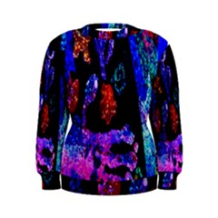 Grunge Abstract In Black Grunge Effect Layered Images Of Texture And Pattern In Pink Black Blue Red Women s Sweatshirt by Nexatart