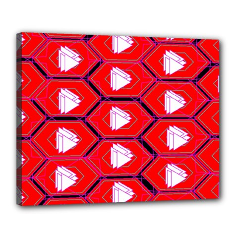 Red Bee Hive Background Canvas 20  X 16