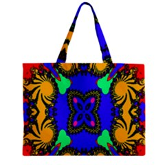Digital Kaleidoscope Zipper Mini Tote Bag by Nexatart