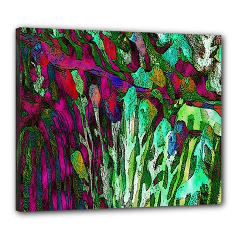 Bright Tropical Background Abstract Background That Has The Shape And Colors Of The Tropics Canvas 24  X 20