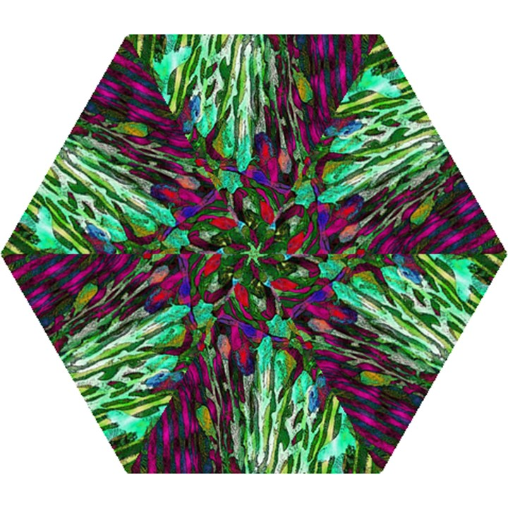 Bright Tropical Background Abstract Background That Has The Shape And Colors Of The Tropics Mini Folding Umbrellas