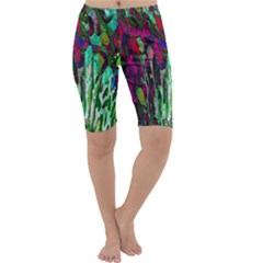 Bright Tropical Background Abstract Background That Has The Shape And Colors Of The Tropics Cropped Leggings