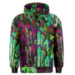 Bright Tropical Background Abstract Background That Has The Shape And Colors Of The Tropics Men s Zipper Hoodie