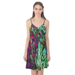 Bright Tropical Background Abstract Background That Has The Shape And Colors Of The Tropics Camis Nightgown