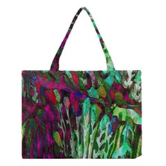 Bright Tropical Background Abstract Background That Has The Shape And Colors Of The Tropics Medium Tote Bag by Nexatart