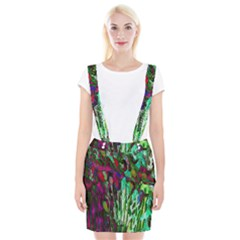 Bright Tropical Background Abstract Background That Has The Shape And Colors Of The Tropics Suspender Skirt