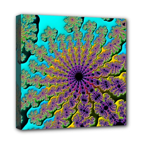 Beautiful Mandala Created With Fractal Forge Mini Canvas 8  X 8  by Nexatart