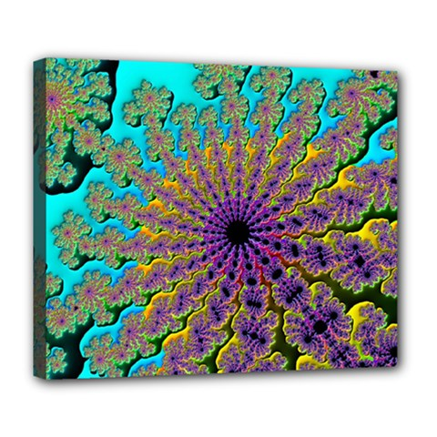 Beautiful Mandala Created With Fractal Forge Deluxe Canvas 24  X 20   by Nexatart
