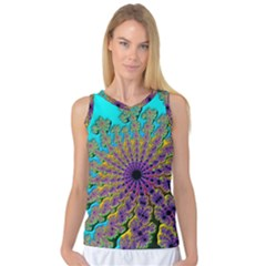 Beautiful Mandala Created With Fractal Forge Women s Basketball Tank Top by Nexatart
