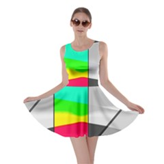 Colors Fadeout Paintwork Abstract Skater Dress