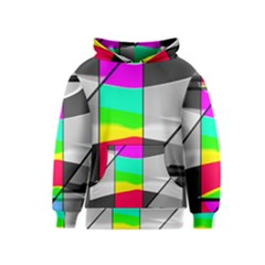 Colors Fadeout Paintwork Abstract Kids  Pullover Hoodie by Nexatart