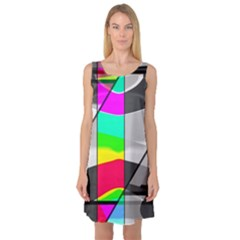 Colors Fadeout Paintwork Abstract Sleeveless Satin Nightdress