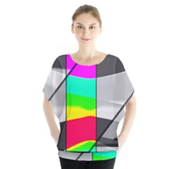 Colors Fadeout Paintwork Abstract Blouse