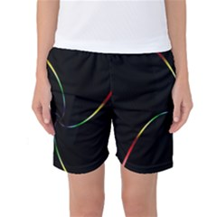 Digital Computer Graphic Women s Basketball Shorts