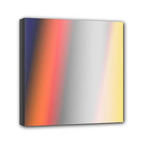 Digitally Created Abstract Colour Blur Background Mini Canvas 6  X 6