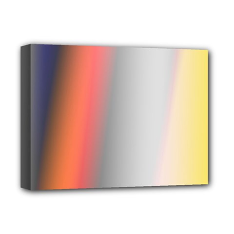 Digitally Created Abstract Colour Blur Background Deluxe Canvas 16  X 12
