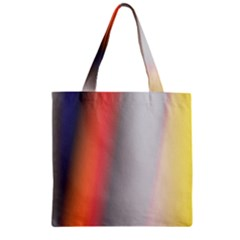Digitally Created Abstract Colour Blur Background Zipper Grocery Tote Bag by Nexatart
