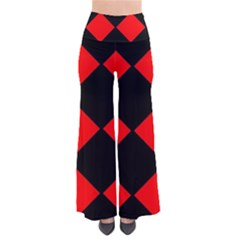 Red Black Square Pattern Pants by Nexatart