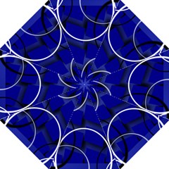 Blue Abstract Pattern Rings Abstract Golf Umbrellas by Nexatart