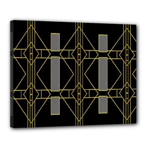 Simple Art Deco Style Art Pattern Canvas 20  X 16  by Nexatart