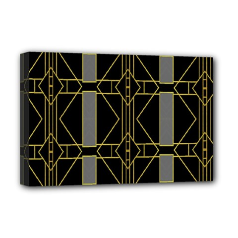 Simple Art Deco Style Art Pattern Deluxe Canvas 18  X 12   by Nexatart
