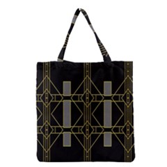 Simple Art Deco Style Art Pattern Grocery Tote Bag by Nexatart