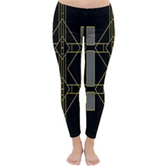 Simple Art Deco Style Art Pattern Classic Winter Leggings
