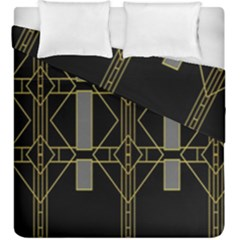 Simple Art Deco Style Art Pattern Duvet Cover Double Side (King Size) by Nexatart
