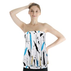 Abstract Image Image Of Multiple Colors Strapless Top by Nexatart