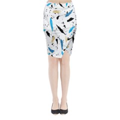 Abstract Image Image Of Multiple Colors Midi Wrap Pencil Skirt by Nexatart